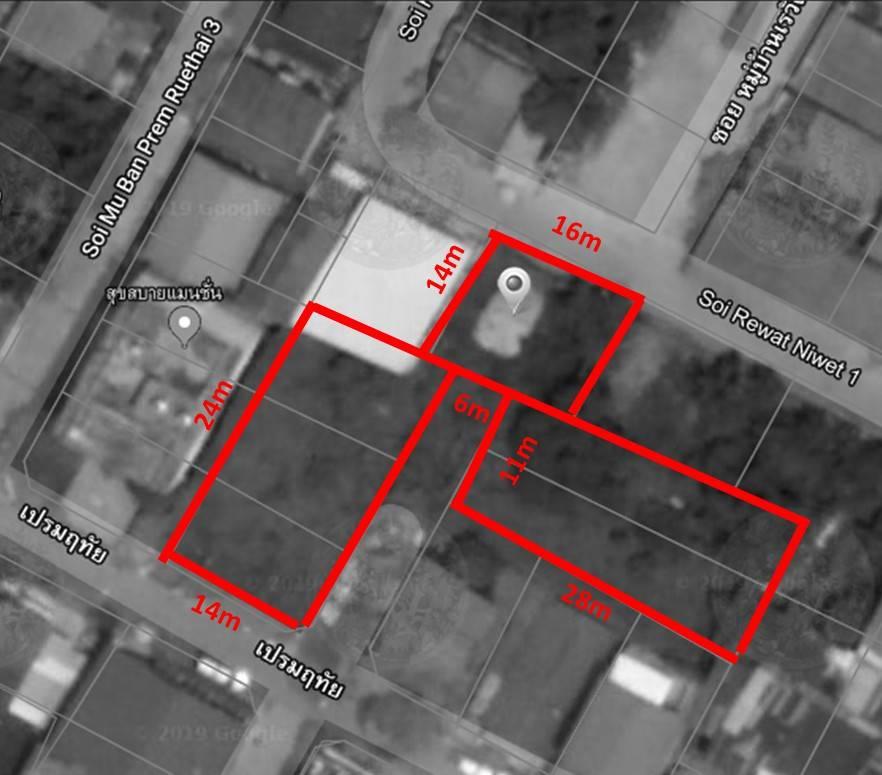 ขายที่ดิน ถนนเทพารักษ์ ใกล้BTSทิพวัล 258ตรว ซ.เรวัต1ห่างจาก ถ.เทพารักษ์ 500เมตร